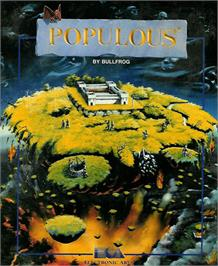 Box cover for Populous on the Atari ST.