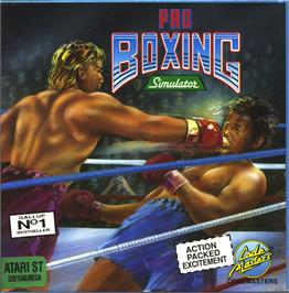 Box cover for Pro Boxing Simulator on the Atari ST.