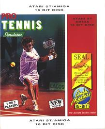 Box cover for Pro Tennis Simulator on the Atari ST.