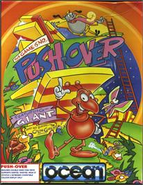 Box cover for Pushover on the Atari ST.