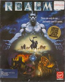 Box cover for Realms on the Atari ST.
