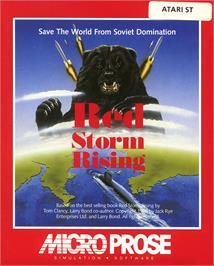 Box cover for Red Storm Rising on the Atari ST.