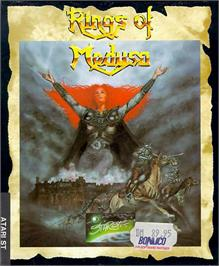 Box cover for Rings of Medusa on the Atari ST.