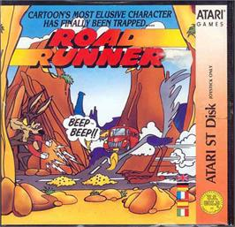 Box cover for Road Runner on the Atari ST.