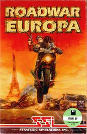 Box cover for Roadwar Europa on the Atari ST.