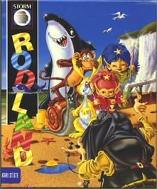 Box cover for Rodland on the Atari ST.