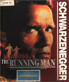 Box cover for Running Man on the Atari ST.