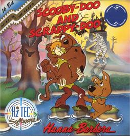 Box cover for Scooby Doo and Scrappy Doo on the Atari ST.