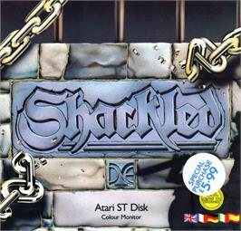 Box cover for Shackled on the Atari ST.