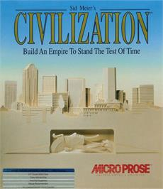 Box cover for Sid Meier's Civilization on the Atari ST.