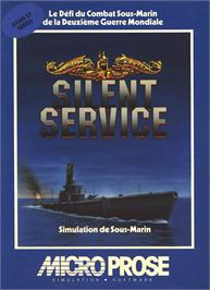 Box cover for Silent Service on the Atari ST.