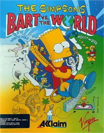Box cover for Simpsons: Bart vs. the World on the Atari ST.