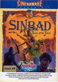 Box cover for Sinbad and the Throne of the Falcon on the Atari ST.