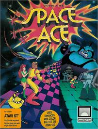 Box cover for Space Ace on the Atari ST.
