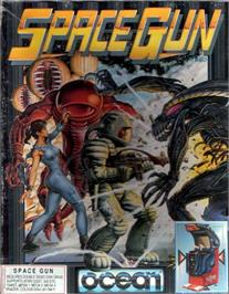 Box cover for Space Gun on the Atari ST.