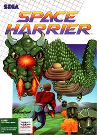 Box cover for Space Harrier on the Atari ST.