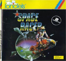 Box cover for Space Racer on the Atari ST.
