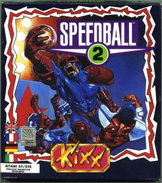 Box cover for Speedball 2: Brutal Deluxe on the Atari ST.