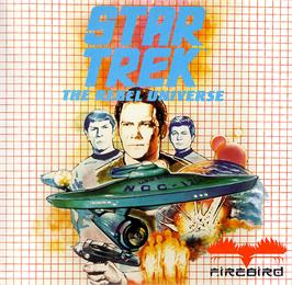 Box cover for Star Trek The Rebel Universe on the Atari ST.
