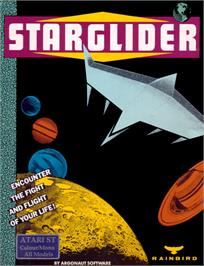 Box cover for Starglider on the Atari ST.