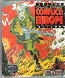 Box cover for Storm Across Europe on the Atari ST.