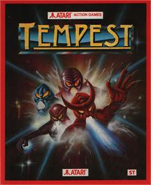 Box cover for Tempest on the Atari ST.