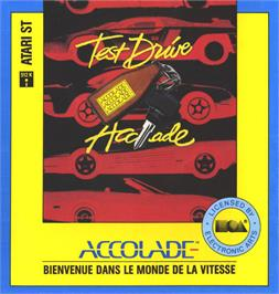 Box cover for Test Drive on the Atari ST.
