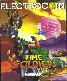 Box cover for Time Soldiers on the Atari ST.
