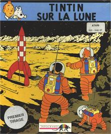 Box cover for Tintin on the Moon on the Atari ST.