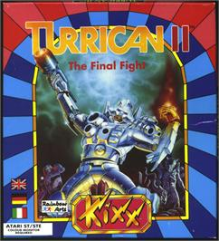 Box cover for Turrican II: The Final Fight on the Atari ST.