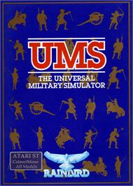 Box cover for UMS: The Universal Military Simulator on the Atari ST.