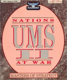Box cover for UMS II: Nations at War on the Atari ST.