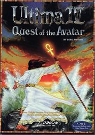 Box cover for Ultima IV: Quest of the Avatar on the Atari ST.