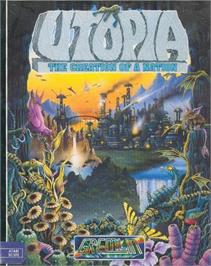 Box cover for Utopia: The Creation of a Nation on the Atari ST.