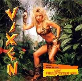 Box cover for Vixen on the Atari ST.