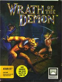 Box cover for Wrath of the Demon on the Atari ST.