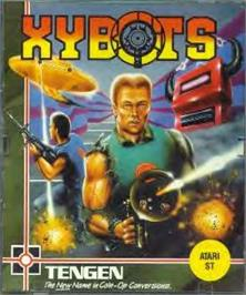 Box cover for Xybots on the Atari ST.