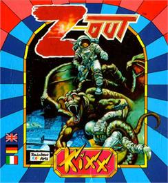 Box cover for Z-Out on the Atari ST.