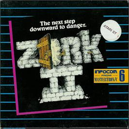 Box cover for Zork II: The Wizard of Frobozz on the Atari ST.