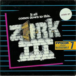 Box cover for Zork III: The Dungeon Master on the Atari ST.