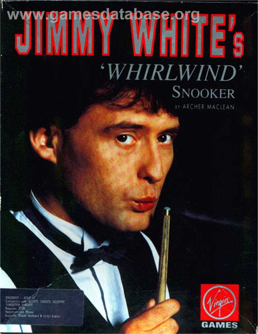Box cover for Jimmy White's Whirlwind Snooker on the Atari ST. - Jimmy_White-s_Whirlwind_Snooker_-_1991_-_Virgin_Games,_Ltd