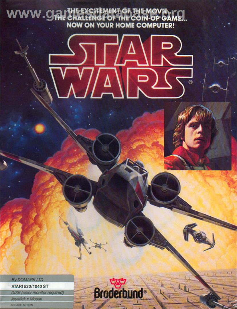 Box cover for Star Wars: The Empire Strikes Back on the Atari ST.