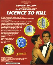 Box back cover for 007: Licence to Kill on the Atari ST.
