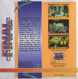Box back cover for Aerial Combat ST on the Atari ST.