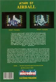 Box back cover for Airball on the Atari ST.