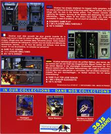 Box back cover for Alcatraz on the Atari ST.