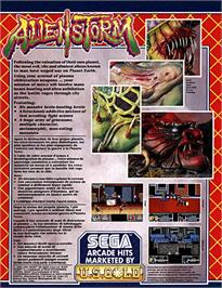 Box back cover for Alien Storm on the Atari ST.