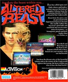 Box back cover for Altered Beast on the Atari ST.