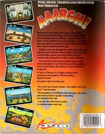 Box back cover for Anarchy on the Atari ST.