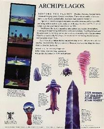 Box back cover for Archipelagos on the Atari ST.